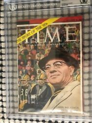 Vince Lombardi Signed Time Magazine Cover