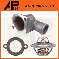 74 C Thermostat + Housing And Gasket For Ford 3600 3610 3910 4000 Tractor