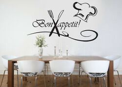 Kitchen bon appetit family Wall Stickers Art Dining Room Removable Decals DIY
