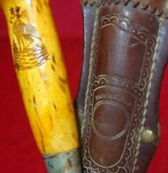Antique Finland Hunting/fishing Knife Hand Made Original Leather Scabbard
