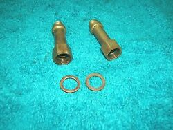 1966-67 Pontiac Gto Automatic Transmission Brass Trans Extension Fittings Oem
