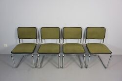 4 x Thonet S32 Cantilever Chair Chair Fabric Cover Green GZ