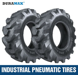 12.5/80-18 12pr Duramax R4 Backhoe And Tractor Tires 2 Tires 12.5x80x18