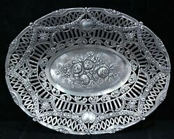 German 800 Silver Reticulated Repousse Basket Circa Late 1920s