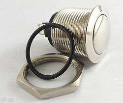 100x 19mm Metal Circle Round Top Push Button Momentary Waterproof Switch Qn19-a2