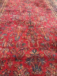 Important Antique massive signed Palace sized handwoven super fine rug