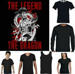 Bruce Lee T-shirt Legend Of The Dragon Martial Arts Mma Training Top Gym