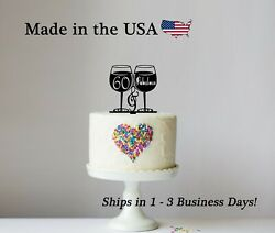 60 And Fabulous Cake Topper Any Age Birthday Party Ladies 30th 60th Lt1385a