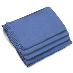 50 Pieces NEW BLUE GLASS CLEANING SHOP TOWELS HUCK SURGICAL DETAILING TOWELS