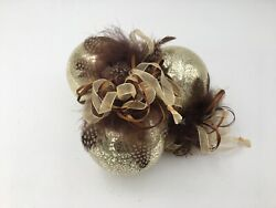 Elegant Golden Jewel Ornament Collection By Frontgate Christmas Ornaments