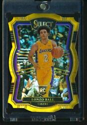 2017-18 Select Rookie Die-cut Gold Prizm 7/10 Rc Lonzo Ball
