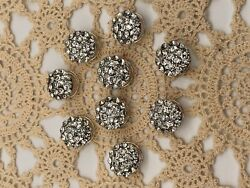 SET OF 9 ROUND RHINESTONE WEDDING BRIDAL TWIST COIL HAIRPINS.