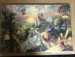 Beauty And The Beast Falling In Love Andndash Limited Edition Canvas Art