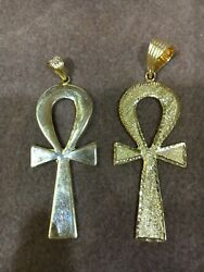 Egyptian Key Of Life Yellow Gold Pendant 18k Stamped 11g Free Shipping
