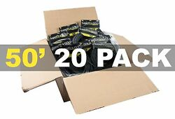 Master Carton Of 20 Superflex Gold Sfm-50 Premium Microphone Cables 50and039