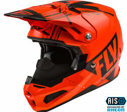 Fly Racing Formula Vector Snow Carbon Helmet - Neon Orange/grey Md 73-4414m