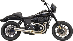 Bassani Road Rage 3-step 2-into-1 Raw Tapered Exhaust System For Harley 1d3ss