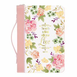 Filled With Your Love Watercolor Garden X-large Faux Leather Bible Cover