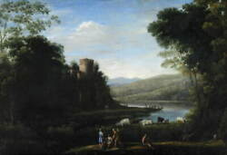 Claude Lorrain Statens For Kunst Poster Reproduction Giclee Canvas Print