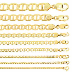 10k Yellow Gold Solid 2mm-10.5mm Mariner Anchor Necklace Chain Bracelet 16- 30