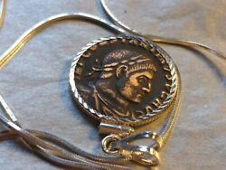 Authentic Roman Sol Pendant Constantine The Great 20 Sterling Silver Chain 🎇