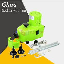 Electric Small Glass Edging Machine Straight Round Bevel Edge Trimmer Grinder