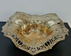 Antique Marcus And Co New York Sterling Silver Platter Bowl Stunning Art Nouveau