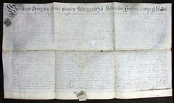 Document Military Appointment Germany 1777 MilitÄrernennung Baden Very Rare