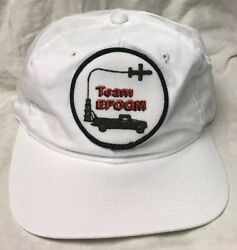 adjustable white hat EFOGM Team patch Enhanced Fiber Optic outdoor cap style