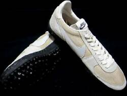 Unused 1979 Astro Turf Waffle Racer 9inch Dead Stock Smu White Shoes Rare C