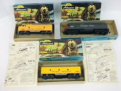 Vintage Lot Of 3 Ho Athearn Train Miniature Yellow Union/southern Pacific 1467b