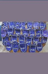 CROWN ROYAL PURPLE GOLD BAGS 750 ml Lot of 4 Arts Crafts Quilts Purse $9.99