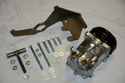 Chevy 508 V Belt A/c Air Conditioning Compressor And Driver Side Bracket Long Pump