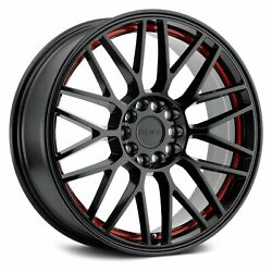 Ruff Racing OVERDRIVE Wheels 17x7.5 (38, 5x114.3, 72.1) Black Rims Set of 4