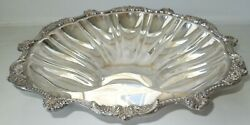 Large Footed Scallop Shape Silver Plated Tray Epca Old English By Poole 5013