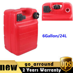 6gallon/24l Outboard Motor Fuel Tank Huge Gasoline Container Gas Can Portable Us