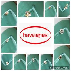Original Havaianas SLIM Green Tea Crystal Or Personalized Crystal Charms