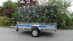 New Cover For Car Box Trailer Class 750kg 7ftx4ft Single Axle + Free Trailer