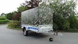 Brand New Cover 4 Car Trailer 7ft X 4ft Flatbed Tipper + Free 7x4 Trailer