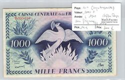 Banknote Aef Congobrazzavile - 1000 Francs - L1941 - Numbers Red - Filigree