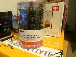 33 Ft Battery Operated Multi Color LED String Lights 100 TINY Bright Lights