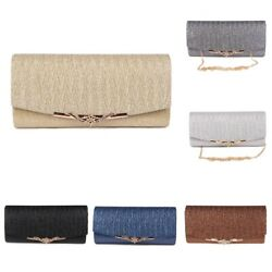Shiny Glitter Women Wedding Evening Bag With Chain Ladies Bridal Party Clutches $15.97