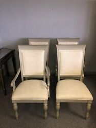 Drexel Heritage Acclamations Tribute Arm And Side Dining Chairs Set Gray 175-750