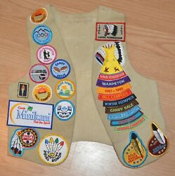 Vintage Girl Scout Lot Patches Sioux Federation Ymca Indian Guide Jacket Vest