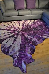 New Cowhide Rug Suede Leather Black Gray White Purple Red Eccentric Luxuries 9x8