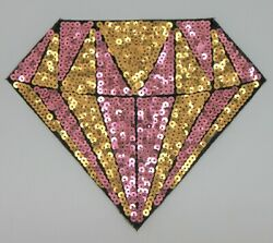 Sequin Patch: Diamond Silver and Gold $4.98