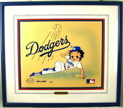 Betty Boop Cel Los Angeles Dodgers Signed Gregory Neyman Edition Number 1 Rare