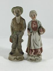 Vintage Figurines Set Country Man And Woman Couple 6quot; Tall