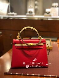 2019 Hermes Kelly 25 Special Order (SO) Rouge Casage + Trench Brush Gold GHW