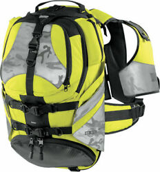 ICON Squad II Pack Motorcycle Backpack Mil Spec Yellow $49.99